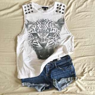 Buy 1 Get 1: Forever 21 Muscle Shirt + Hollister Denim Shorts