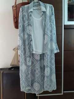 Korea 靚 pattern長裇衫外套