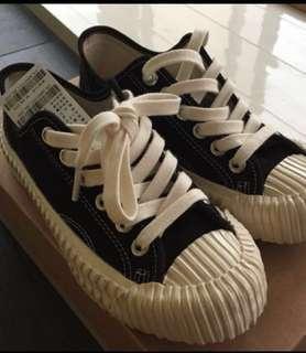 🚚 excelsior韓國餅乾鞋 黑 22cm