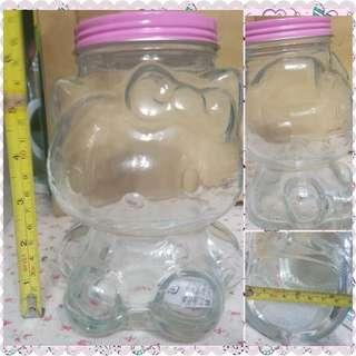絕版 sanrio hello kitty 立體人形玻璃罌 全新