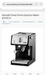Very New Coffee Machine Delonghi- ECP33.21