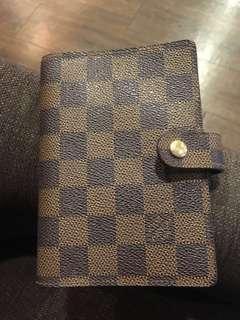 LV棋盤格子筆記本 簡易卡包 錢包 Louis Vuitton Damien 金釦6孔不含內頁紙