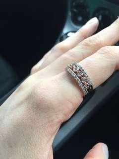 10 carat rose gold with 1ct worth of diamonds 3 set ring
