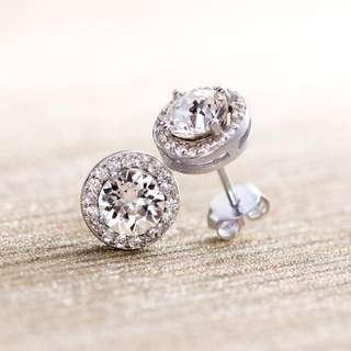Round Earrings with Swarovski Elements