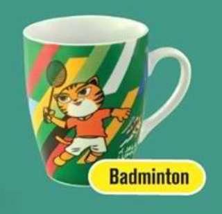 McDonalds McD SEA Games 2017 Kuala Lumpur Mug Badminton