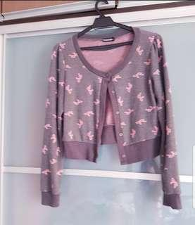 Knitted Buttoned Top or Cardigan