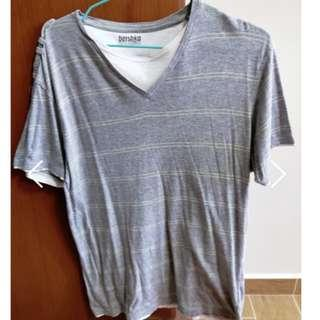 🚚 Bershka striped grey t-shirt