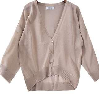 Size10-12 new/sheer cardigan