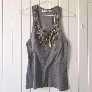 Zara Tank Top in Grey Marle