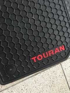 福斯 VW Touran 橡膠防水腳踏墊 5件組