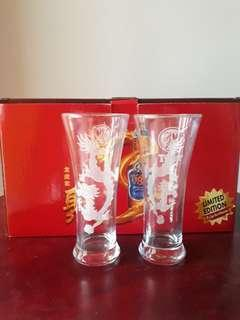 Limited edition 8 x Tiger Beer Glassware