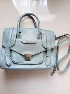 CHARLE N KEITH CnK Hand Bag Grey Leather