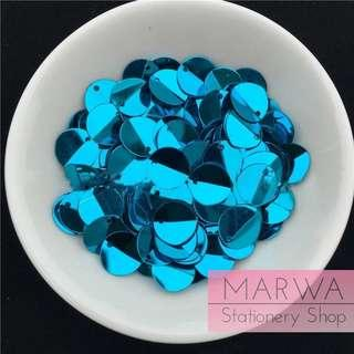 2g (10mm) Turquoise PET Folded  Sequins Pack