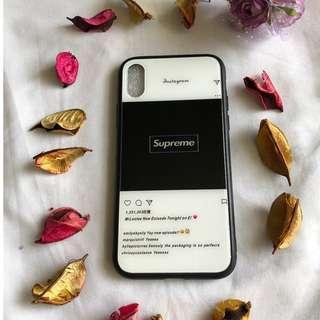 iPhone X Black Instagram Supreme Cover/Case
