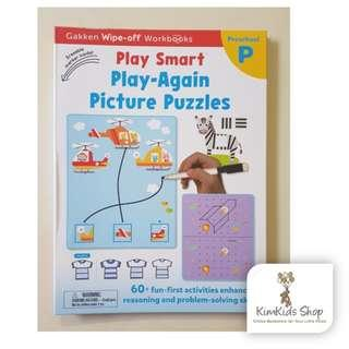 Gakken wipe clean workbooks - Play-again Picture puzzles