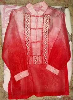 Barong Red Elegance fits 10-12 years old