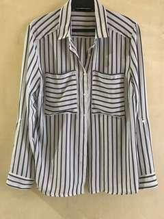 Almost Brand New Sfera Stripe Long sleeves Top, Medium