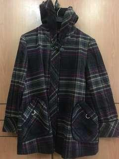 Winter Jacket travel clothing with hood wool