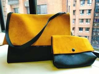 🚚 Celine 黃色肩背包#10月半價特賣#