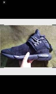 $450 ONO Y-3 Qasa High Triple Black Sneakers