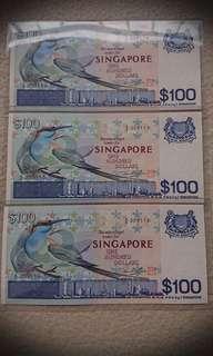 3 UNC Running Bird $100