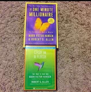 Brand NEW: The One Minute Millionaire & Cash In A Flash By Mark Victor Hansen & Robert G. Allen