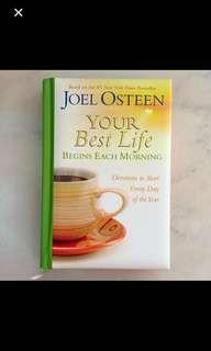 Brand NEW: Your Best Life Begins Each Morning By Joel Osteen