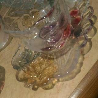 水晶琉璃杯盤組