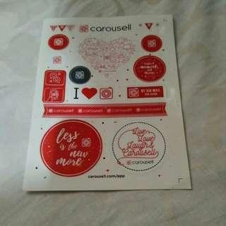 Sticker carousel