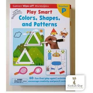 Gakken Wipe Clean Workbook- Colours, Shapes, and Patterns