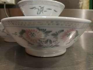 antique bowl rice 4pcs