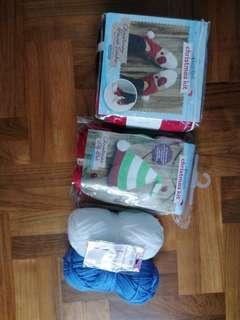 Crocheting, Christmas, yarn(maybe suitable for knitting)