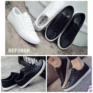 sepatu kets wanita hitam & putih