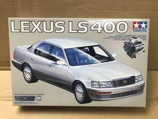 Made in Japan Tamiya 1/24 Lexus LS400 Plastic Scale Model Kit with engine parts available
