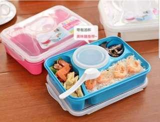 Tempat Makan Anak Praktis Biru Wadah Makanan