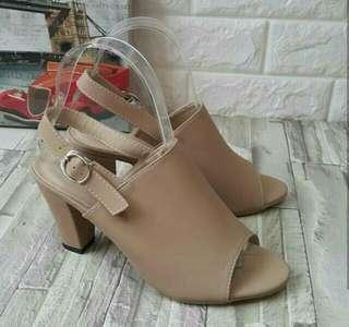 high heels | wedges | cream, moka, pink, hitam