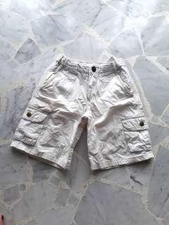 Zara Kids 4-7 years White Pocket Bermuda Short Pant