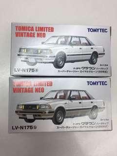 TOMYTEC Toyota CROWN Royal Saloon 皇冠 一對/ LV-175 a+b / TOMICA