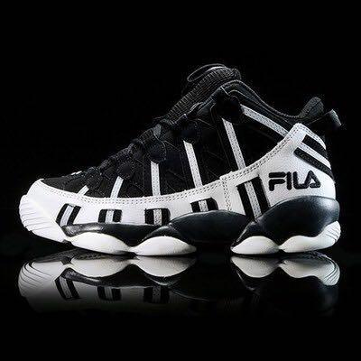 100% AUTHENTIC FILA SPAGHETTI 95 - BLACK/WHITE, Men's ...