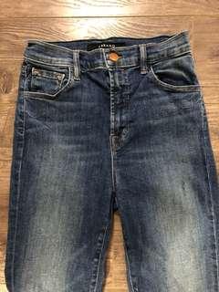 Aritzia J brand high rise skinny jeans size 25