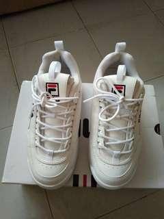 File white shoes size 39 fit untuk 38