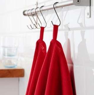 NEW IKEA Set of 2 Cotton Red Dish Towels (Kuala Lumpur)