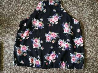 Halter Floral Top