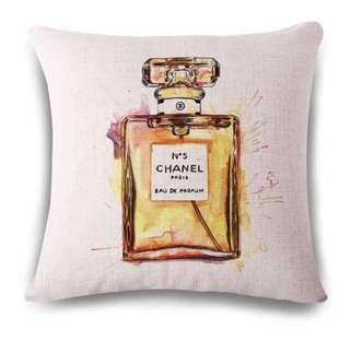 Luxury Chanel No5 Parfum Linen Blend Cushion Cover