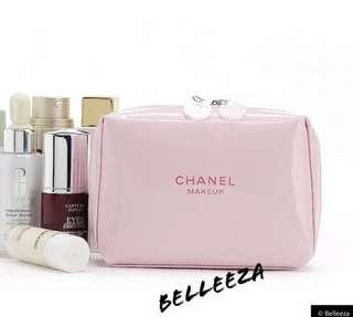 Chanel Make Up VIP Gift Baby Pink Box Style Cosmetic Clutch