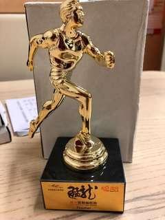 高分猛龍越野跑比賽Tee Go Fun Fearless Dragon Trail Run 完成賽事纪念獎杯$80