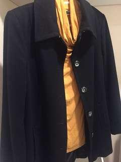 Women black winter coat