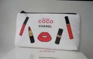 Authentic Chanel Rouge Coco Cosmetic Clutch