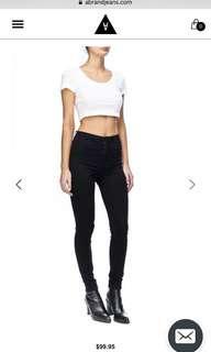 A brand black skinny jeans