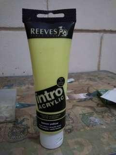 Reeves acrylic tube (yellow)